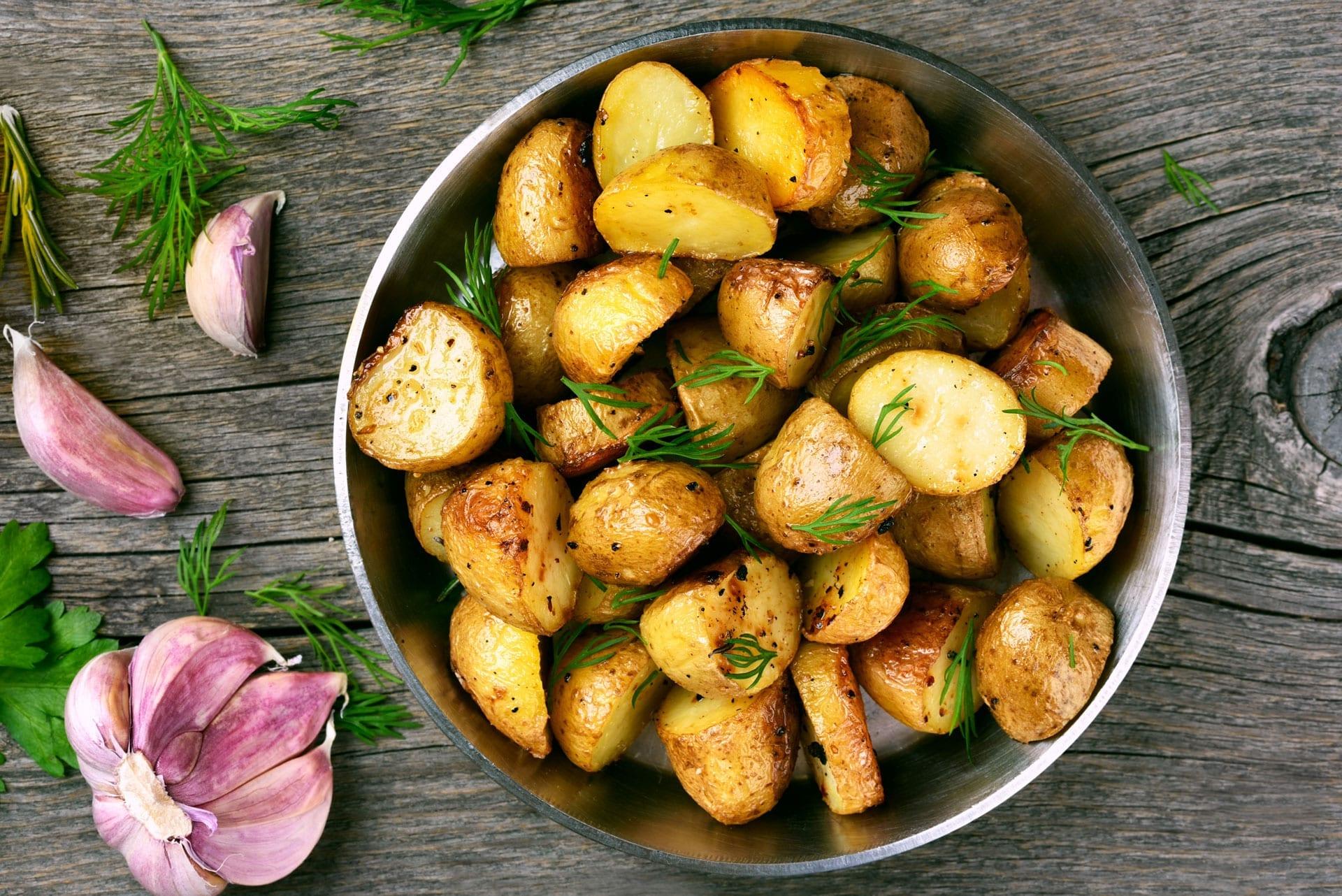 Få sprøde kartofler