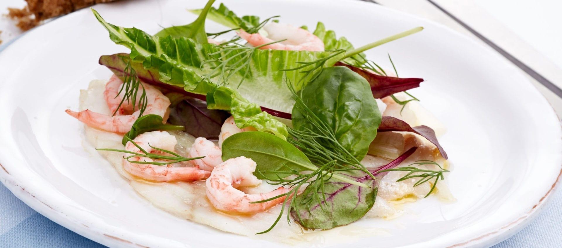 Gratineret Fisk Rejer Sprød Salat Mamarisavut