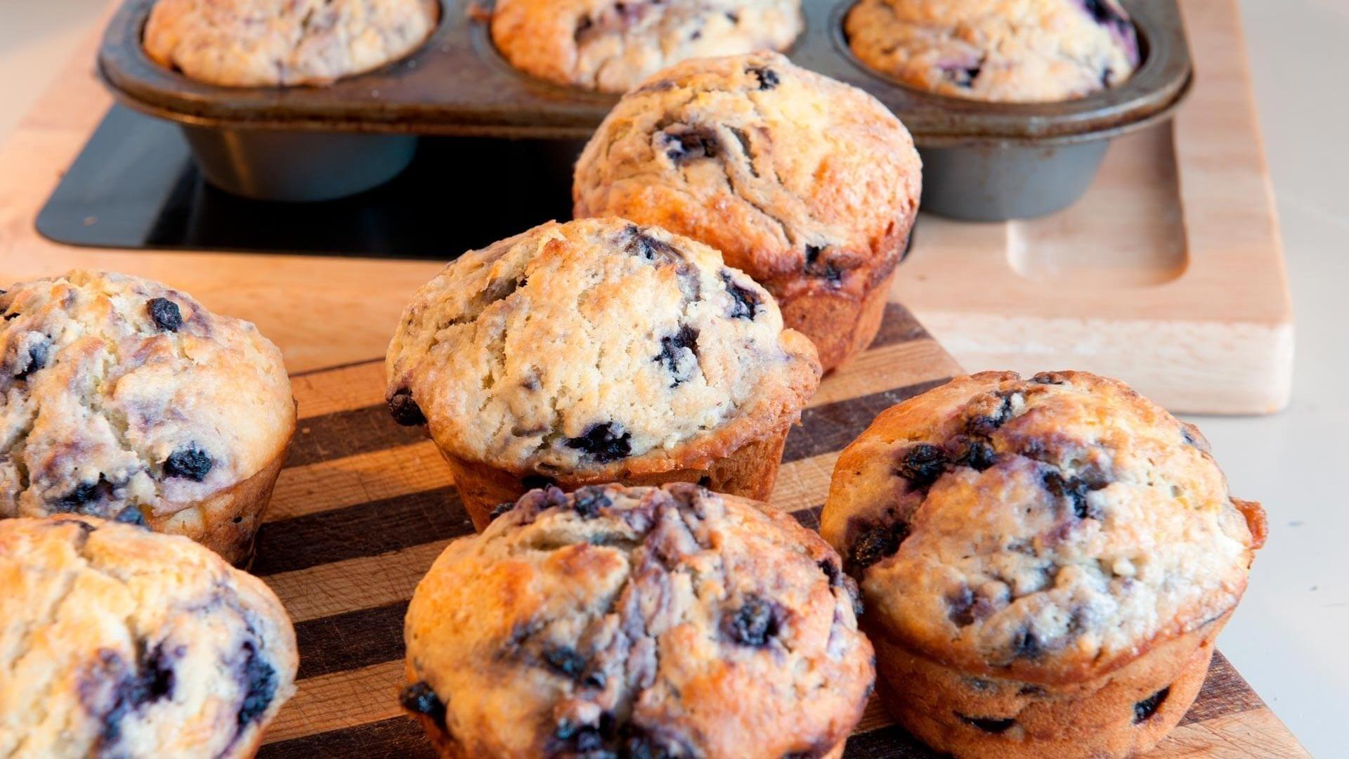 Mamarisavut muffins med sortebaer