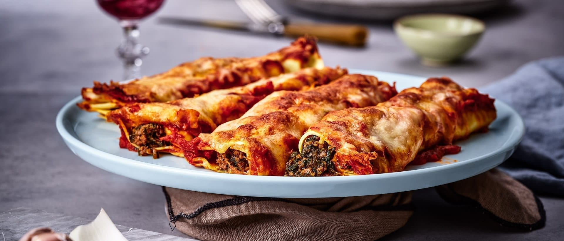 Cannelloni med moskus