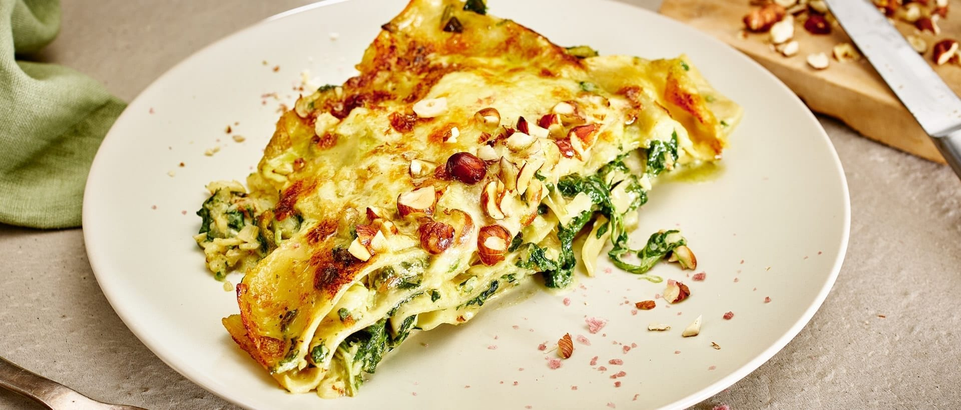 Qeeqqamik lasagne spinatilik
