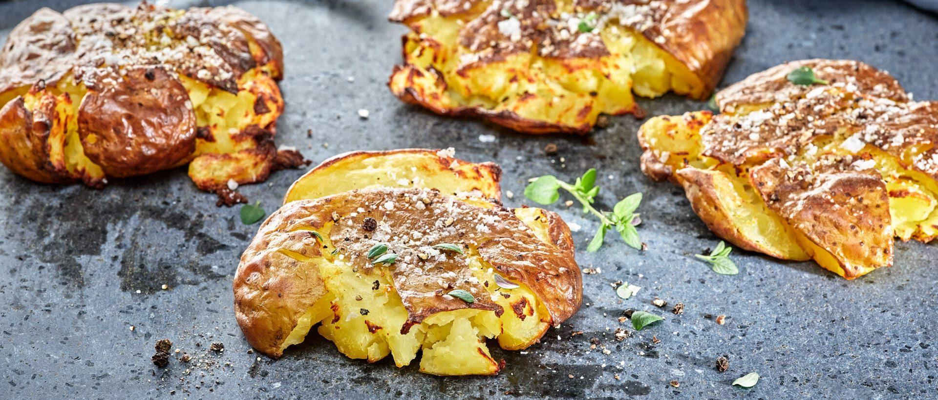 Grillede maste kartofler